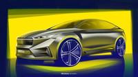 První designové skici vozu Škoda Vision iV