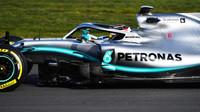 První jízda Lewise Hamiltona s novým Mercedesem F1 W10 EQ Power+