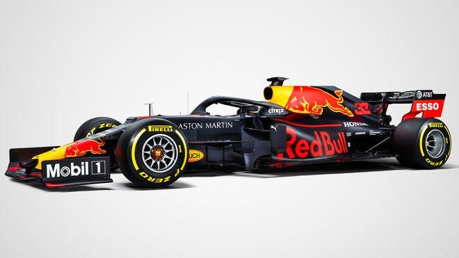 Loňský Red Bull RB15, poprvé poháněný Hondou