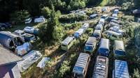 Neznámý kanadský sběratel prodává 55 obytných automobilů Volkswagen Transporter T2 v úpravě Westfalia