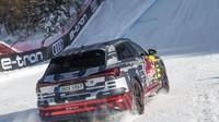 Speciálně vybavený elektromobil Audi e-tron zvládl jízdu po trati proslulého sjezdu se sklonem 85 %