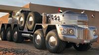Největší SUV světa? Monstrózní Dhabiyan 10x10 vznikl přestavbou amerického armádního tahače - anotační obrázek
