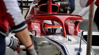Kimi Räikkönen ve voze Alfa Romeo C38 při třetím dnu testů v Barceloně