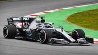Valtteri Bottas ve voze Mercedes F1 W10 EQ Power+ při třetím dnu testů v Barceloně