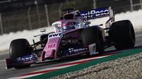 Racing Point při testech v Barceloně