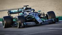 Valtteri Bottas v rámci druhých předsezonních testů v Barceloně