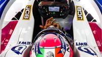 Sergio Pérez v rámci druhého dne druhých předsezonních testů v Barceloně