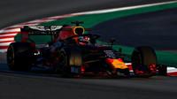 Max Verstappen v rámci druhého dne druhých předsezonních testů v Barceloně