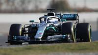 Valtteri Bottas v rámci třetího dne druhých předsezonních testů v Barceloně