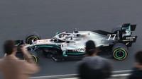 Valtteri Bottas v rámci posledního dne druhých předsezonních testů v Barceloně