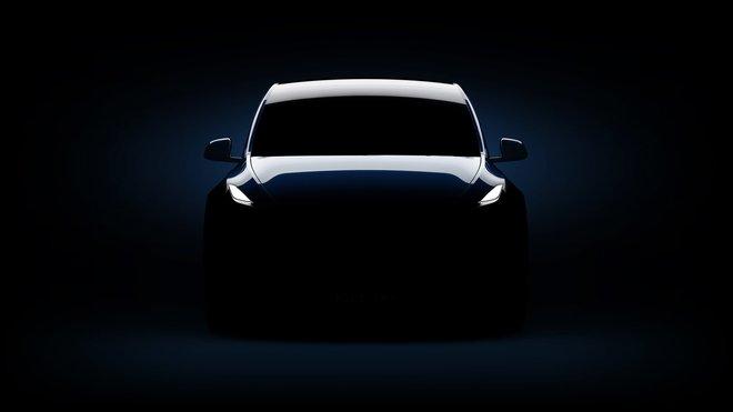 Snímek nového kompaktního SUV Tesla Model Y