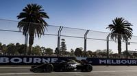 Romain Grosjean v tréninku v Melbourne