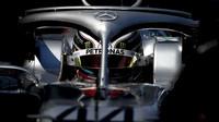Lewis Hamilton v tréninku v Melbourne