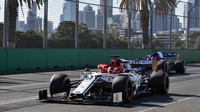 Kimi Räikkönen v kvalifikaci v Melbourne