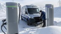 Mercedes-Benz eSprinter během testování za polárním kruhem