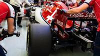 Kimi Räikkönen v trénink v Bahrajnu