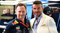 Christian Horner a David Beckham v Bahrajnu