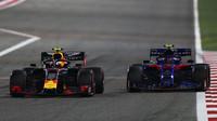 Pierre Gasly a Alexander Albon v závodě v Bahrajnu