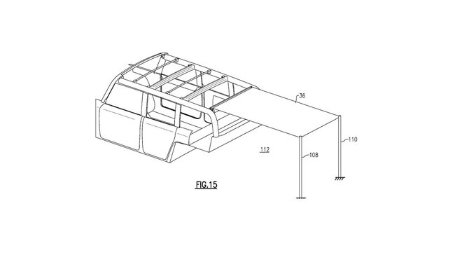 Ford si nechal patentovat novou stylovou střechu, která by se mohla objevit na nové generaci modelu Bronco