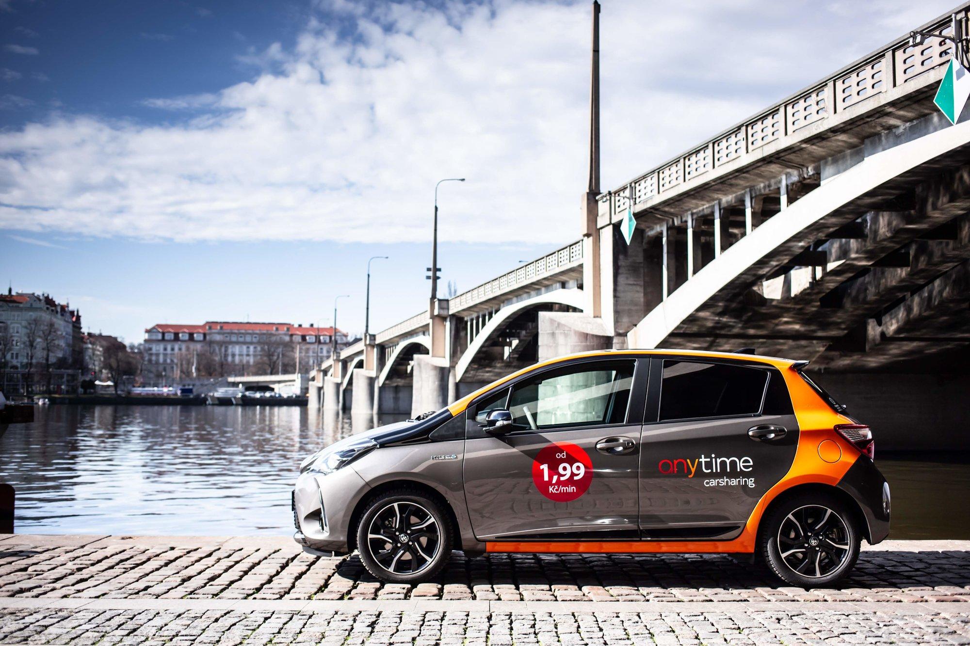 Světová jednička ve sdílení aut Anytime carsharing vstupuje do Prahy