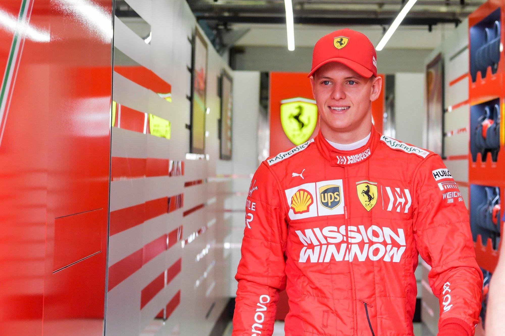 Mick Schumacher během testů s Ferrari