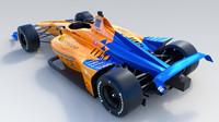 McLaren s číslem 66 postavený pro Fernanda Alonsa na závod Indianapolis 500