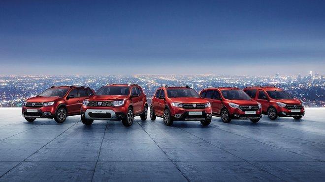 Nabídka modelů Dacia