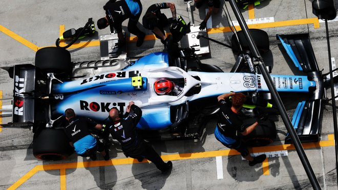 Robert Kubica u mechaniků Williamsu