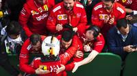 Sebastian Vettel po závodě v Číně