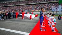 Slavnostní ceremoniál před závodem v Číně