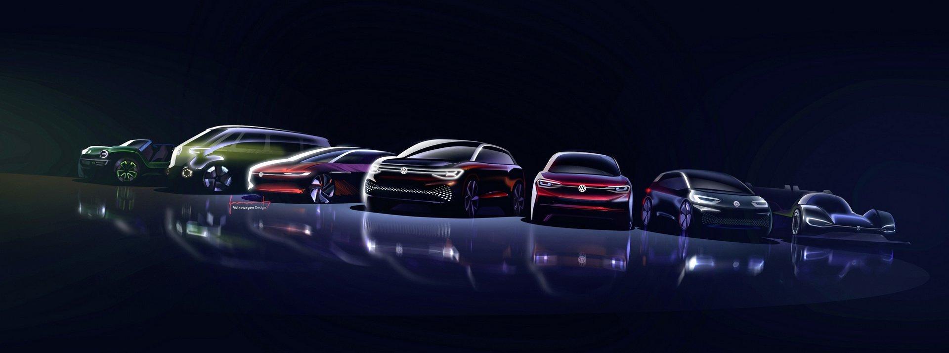 """Připravovaná """"rodina"""" elektromobilů Volkswagen I.D."""