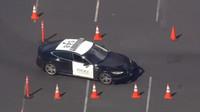 Policejní Tesla Model S během testování