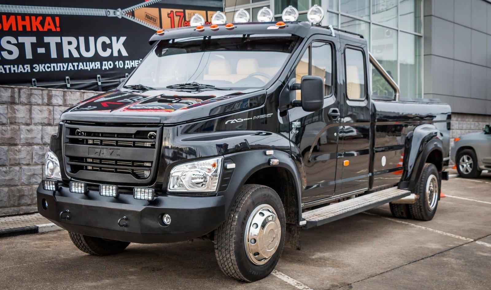 Pick-up GAZon Next je ruskou odpovědí na extrémně populární modely v USA - anotační obrázek