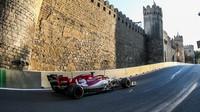 Kimi v tréninku v Ázerbájdžánu
