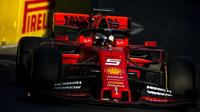 Sebastian Vettel v tréninku v Ázerbájdžánu