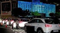 Projekce, která byla při oslavách Dne Země 2019 promítána na metropolitní knihovnu v Soulu, byla napájena pěti vodíkovými elektromobily Hyundai NEXO.