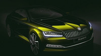 Škoda ukazuje designovou skicu přepracovaného modelu Superb
