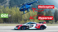 McLaren Senna vs, vrtulník