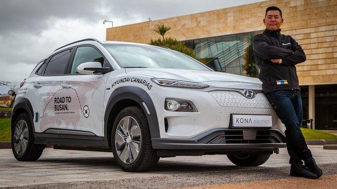Hyundai Kona Electric se vydá na cestu přes půlku světa