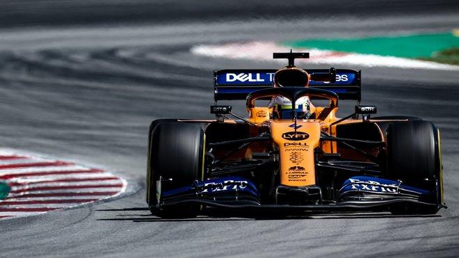 Lando Norris  s McLarenem