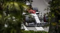 Kimi Räikkönen v tréninku v Monaku