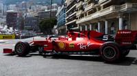 Sebastian Vettel v kvalifikaci na Velkou cenu Monaka 2019