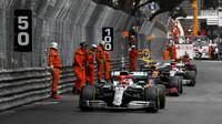 Lewis Hamilton v závodě v Monaku