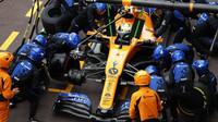 Lando Norris v závodě v Monaku