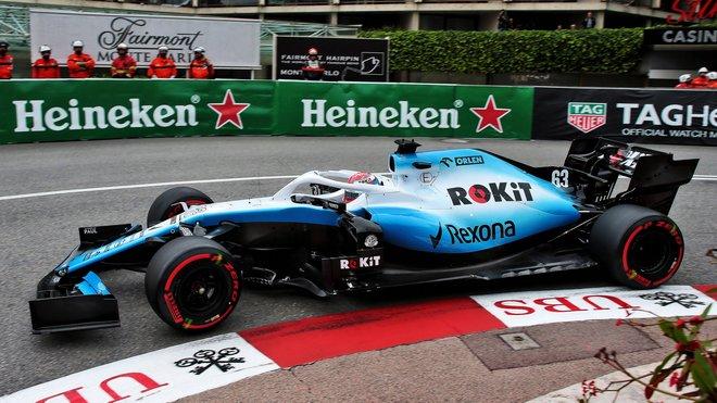 George Russell v kvalifikaci na GP Monaka