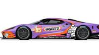 Speciální barevné provedení závodních vozů týmu Ford Chip Ganassi Racing oslavuje minulé i současné úspěchy značky v Le Mans