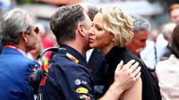 Christian Horner a princezna Charlene před závodem v Monaku