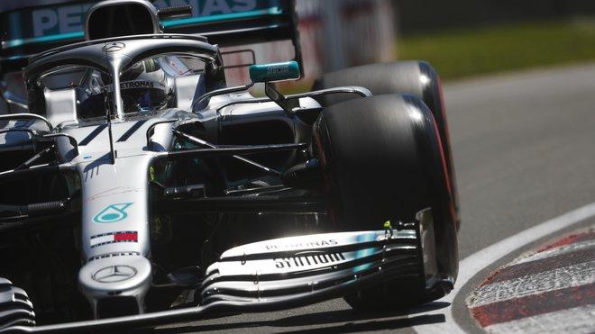 Valtteri Bottas s Mercedesem W10 v Kanadě