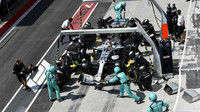 Lewis Hamilton v závodě v Kanadě