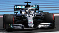 Lewis Hamilton v kvalifikaci ve Francii